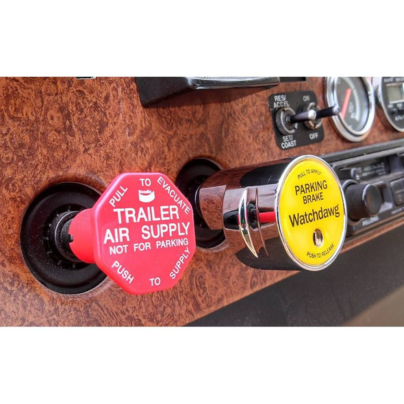 The Watchdawg Tractor Trailer Parking Brake Lock Angle Left View