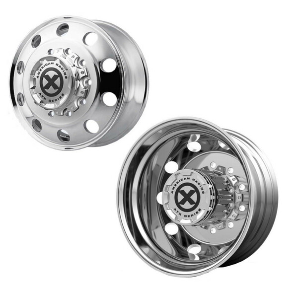"""22.5"""" x 8.25"""" Polished Baja Style Wheels Front And Rear"""