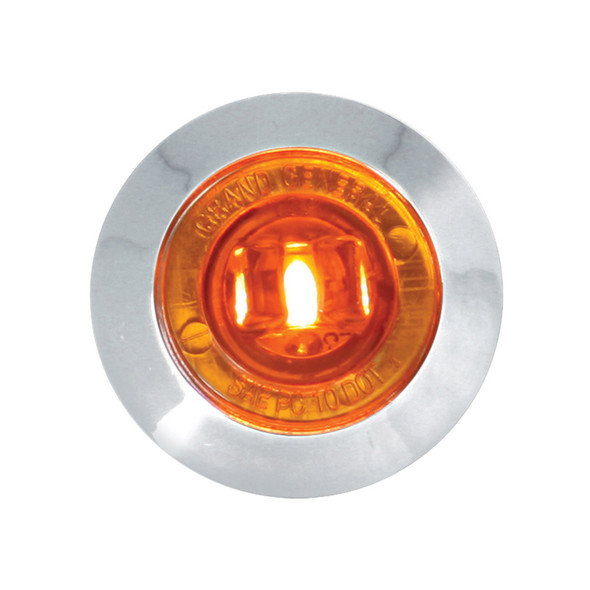 """Dual Function 1"""" Mini Wide Angle Clearance Marker & Turn LED Light - Amber/Amber"""