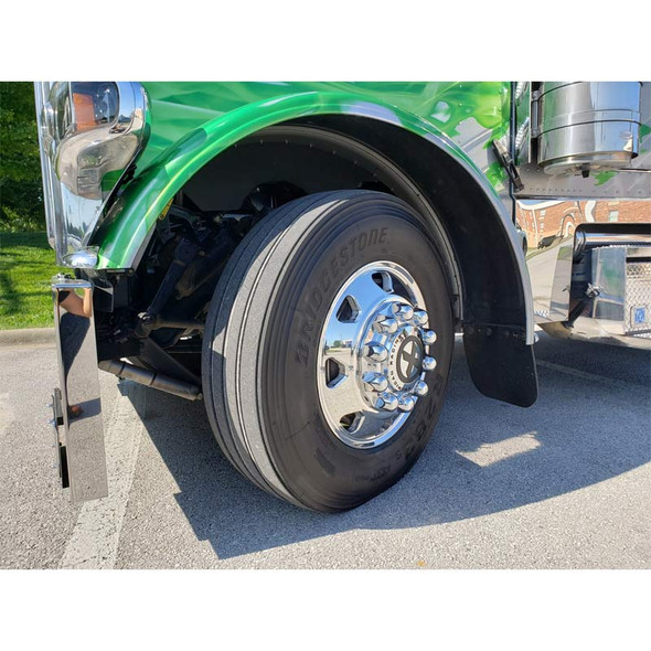 """22.5"""" x 8.25"""" Polished Octane Style Wheel - Side View"""