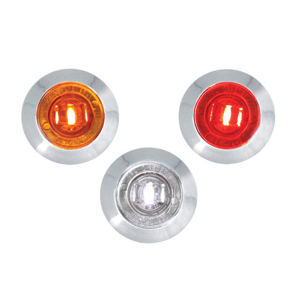 "Dual Function 1"" Mini Wide Angle Clearance Marker & Turn LED Light"