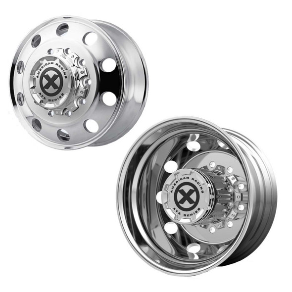 """24.5"""" x 8.25"""" Polished Baja Style Wheels Front And Rear"""