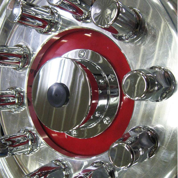 Lifetime Chrome Front Hub Oil Cap Replacement Cover For Bud Wheels - Smooth Demo