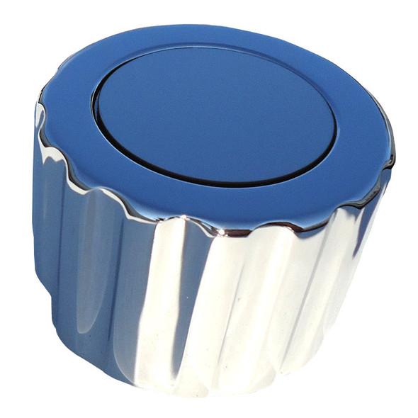 Lifetime Chrome Plated Billet Aluminum Round Shift Knob W/ Ribbed Edges
