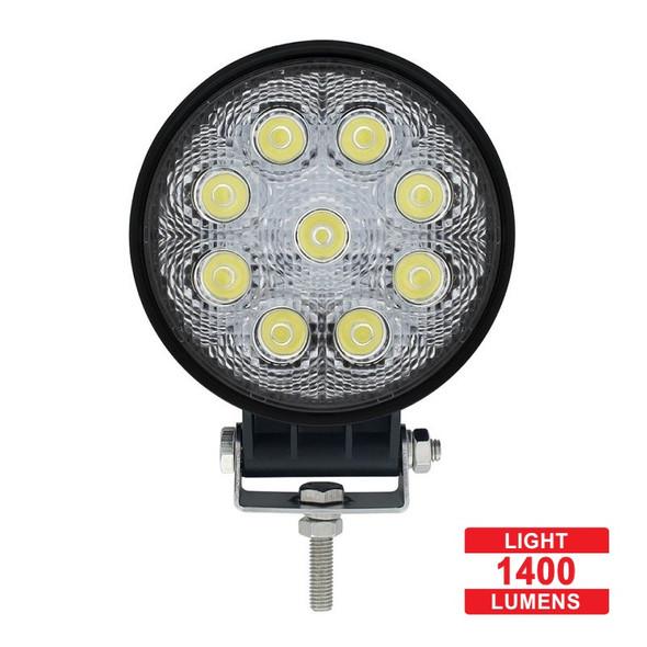 High Power 9 LED Round Work Light - Lumens