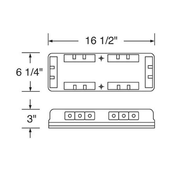 18 High Power LED Mini Warning Light Diagram
