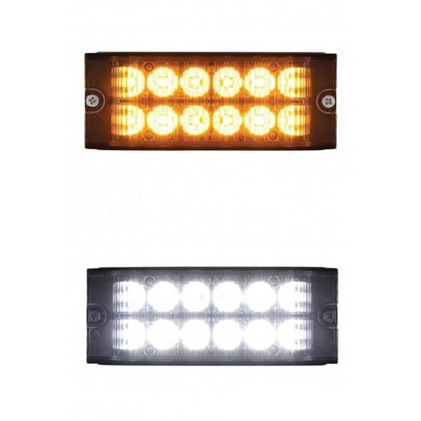 12 LED High Power Low Profile Warning Light Both Options