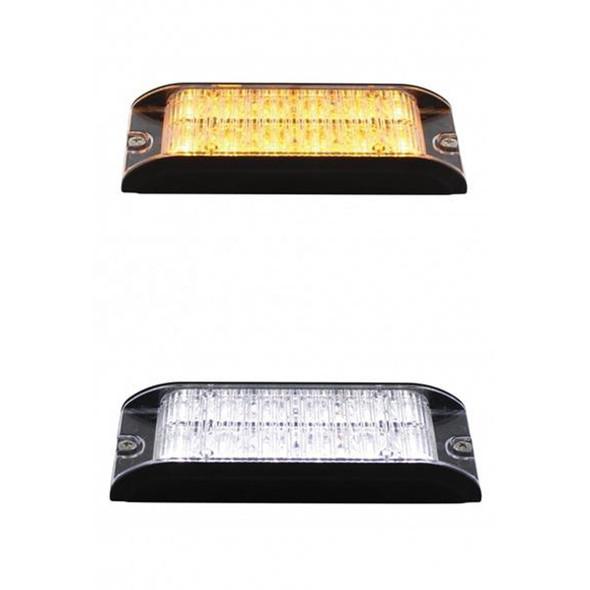 12 LED High Power Low Profile Warning Light Bottom View