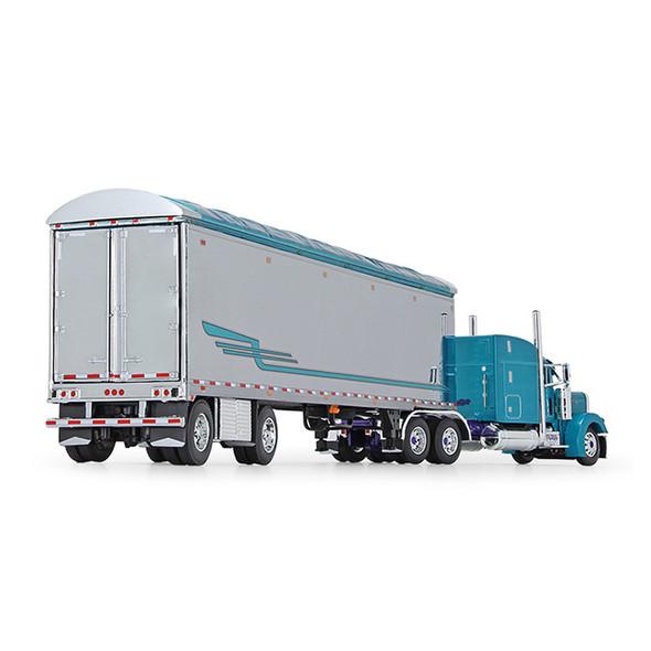 Pyskaty Bros. Trucking #34 Peterbilt Model 379 Sleeper With Trailer 1/64 Scale - Back Side View