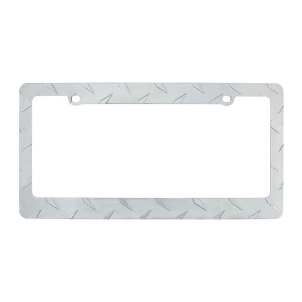 Chrome Diamond Plate License Plate Frame