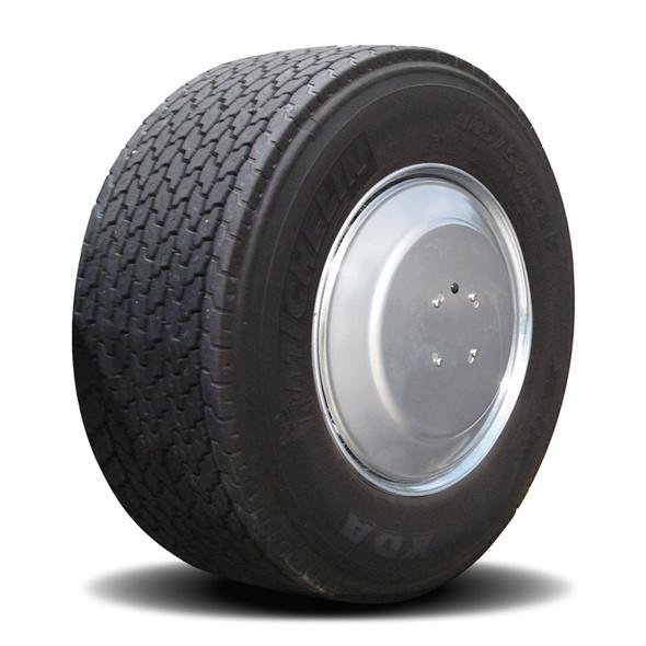 Twist & Lock Steel Aero Cover Set For Wide Base Tractor Wheels - Satin Finish