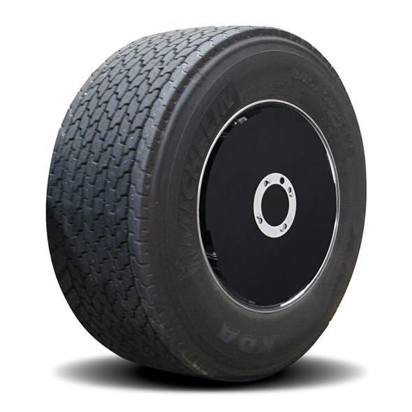 "Twist & Lock Black ABS Plastic Aero Cover Set For 22.5"" Wide Base Wheels"