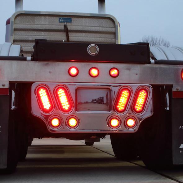 Minimizer Poly Rear Center Light Panel Lit On Truck