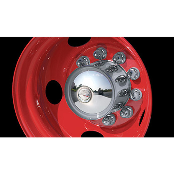 """Stainless Steel 10"""" Tall Rear High Hat Axle Cover Mounted"""