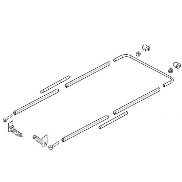 Premium Front To Back Underbody Aluminum Tarp Mount System