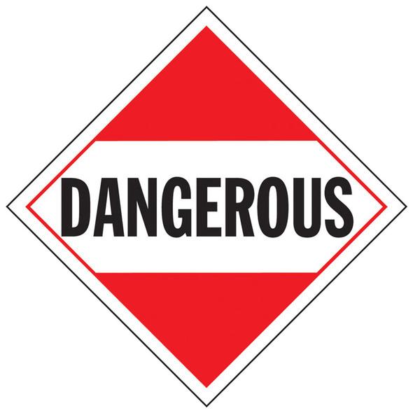 Dangerous Placard Sign