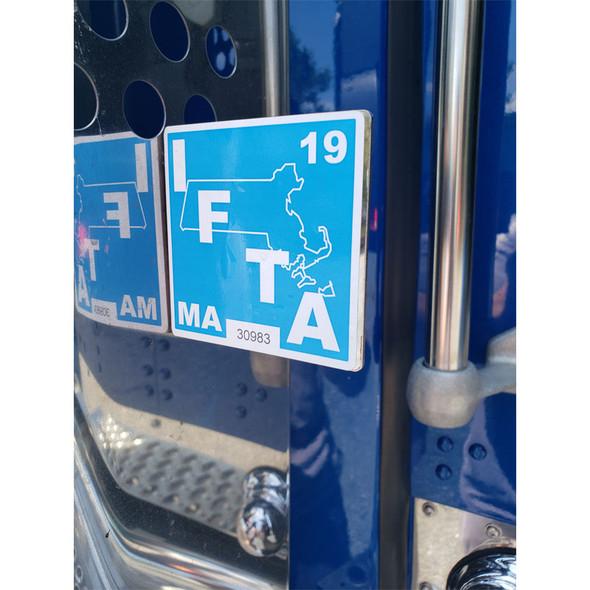 Universal Stainless Steel Exhaust Clamp Mount Permit IFTA Bracket On Truck