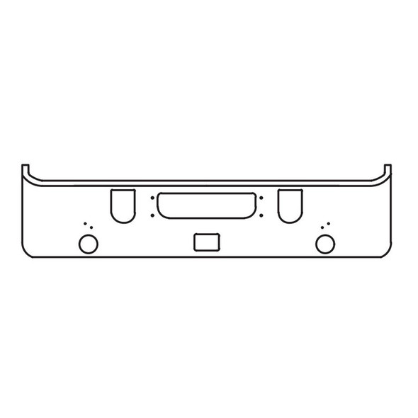 Mack CHN 613 Set Forward Axle Chrome