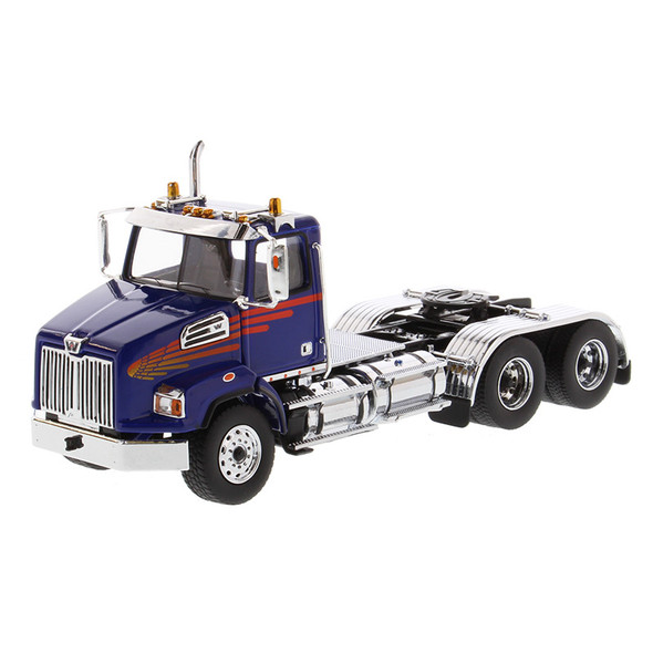 Western Star 4700 Set Forward Axle Tandem Day Cab 1/50 Scale - Driver Side Angle View