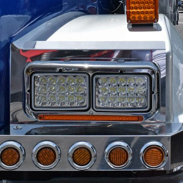 "4"" x 6"" LED Rectangular High Intensity Headlight 1200 Lumens"