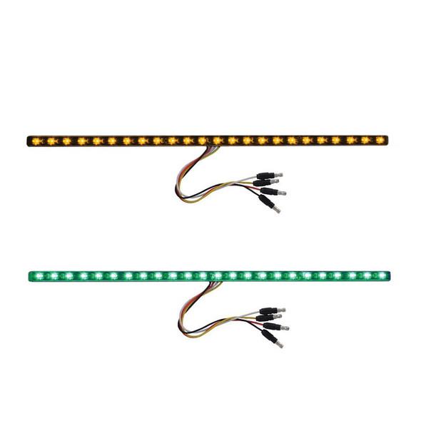 """17"""" Dual Revolution Light Strip Amber & Green LED Marker Light"""