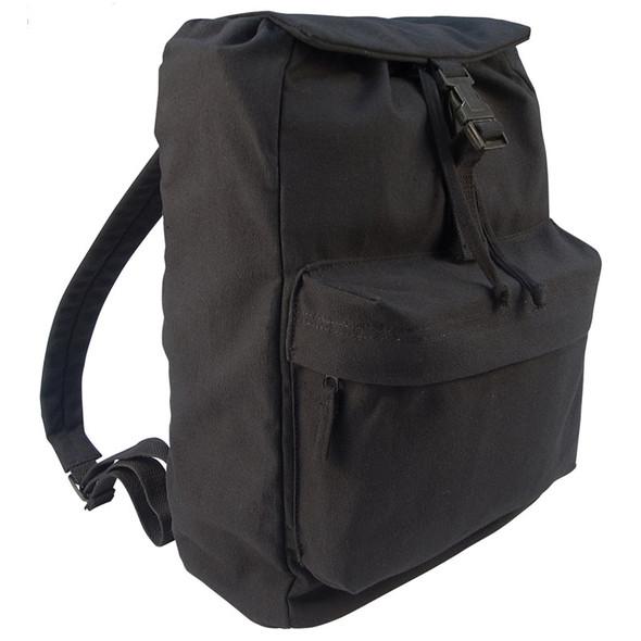"17"" Lidded Canvas Daypack Black"