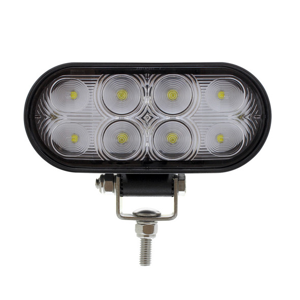 8 LED Oval Wide Angle Driving Work Light Front