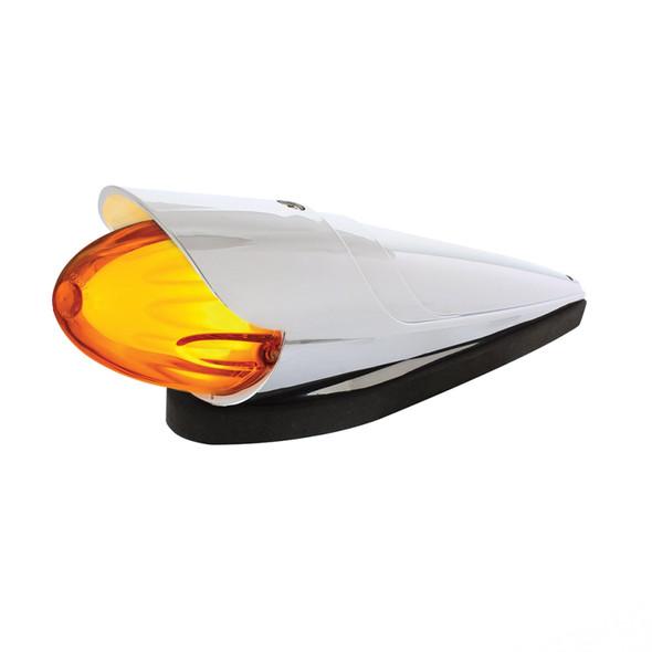 Dual Function 9 Amber LED Cab Light GLO Grakon 1000 Style With Lipped Visor Amber Lens