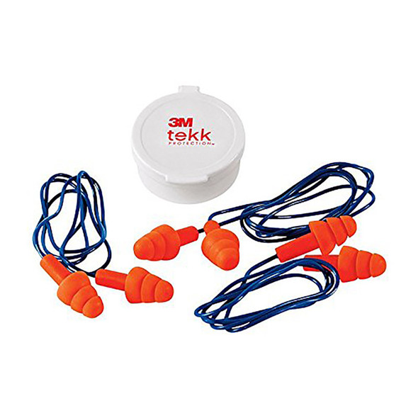 Corded Reusable Earplug 3 Pair With Case