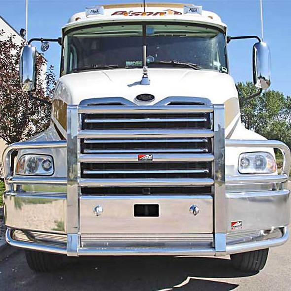 Mack Vision CXN CXU SBA Ali Arc Curved Front Bumper Grille Guard
