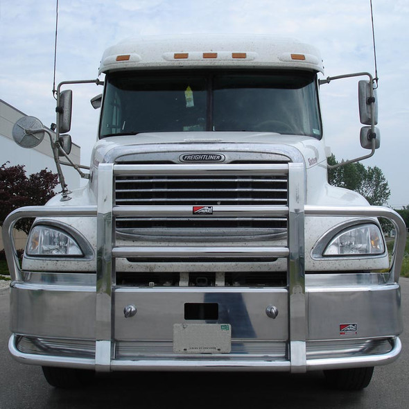 Freightliner Columbia DD Ali Arc Curved Front Bumper Grille Guard
