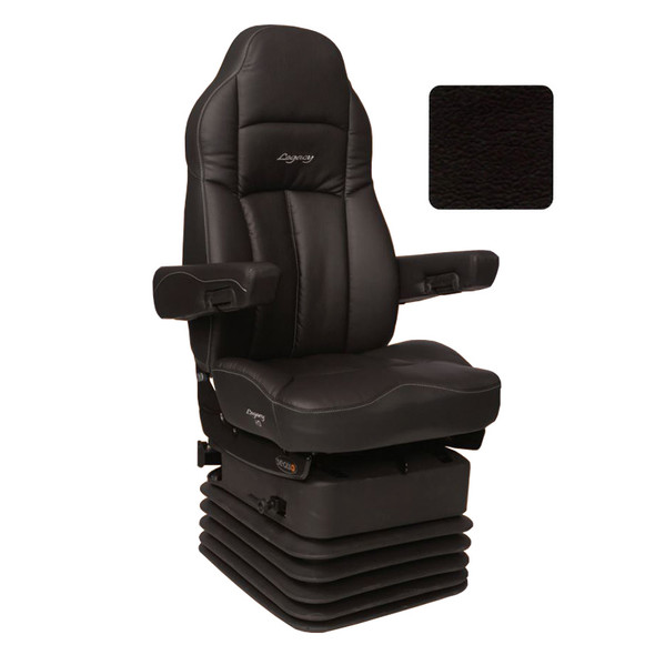 Legacy HD DuraLeather Highback Truck Seat Black