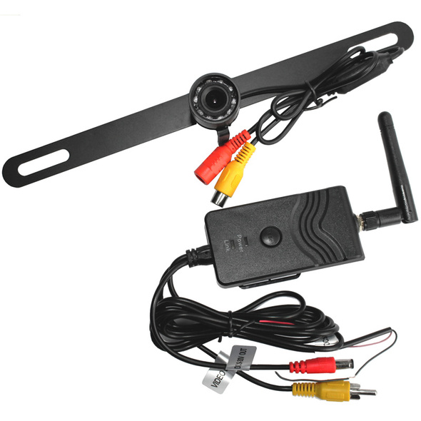 Universal Wireless License Plate Backup Camera With Connection
