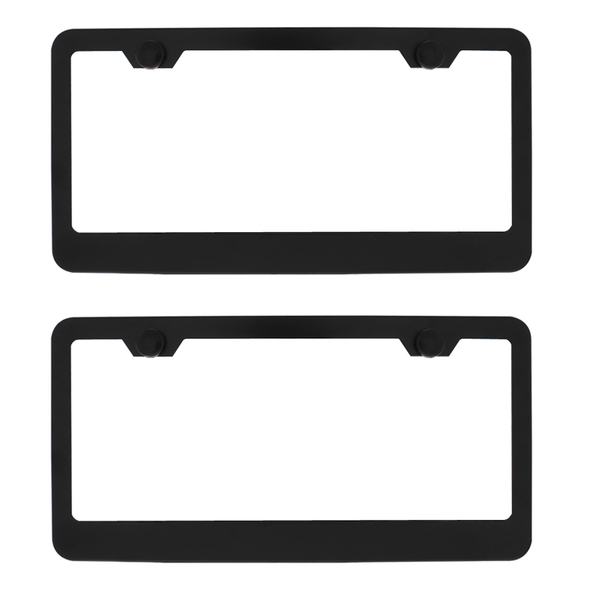 Dual Black Metal License Plate Frame Kit