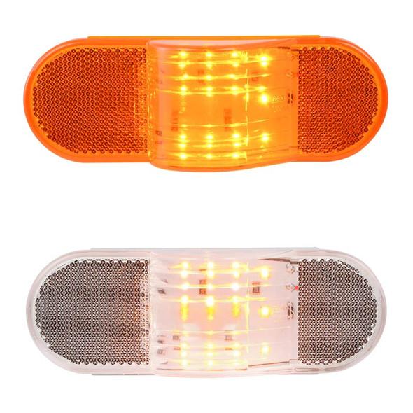 12 Amber LED Oval Side Marker & Turn Lights
