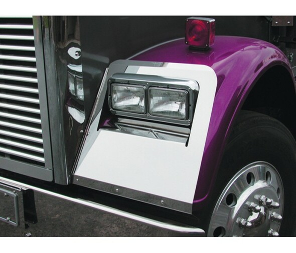 Freightliner Classic Short Hood Headlight Fender Guard