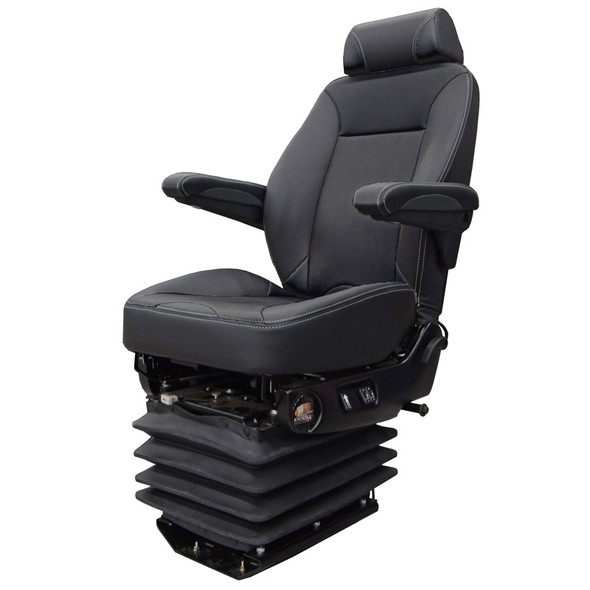 Air Chief Mid Back Truck Seat With Headrest By Knoedler Black