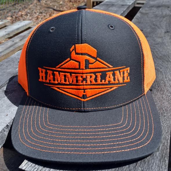 Snapback Neon Orange Hammer Lane Trucker Hat