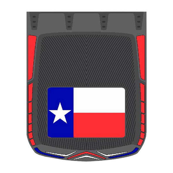 """24"""" x 30"""" Texas Flag Mud Flaps With Black Background"""