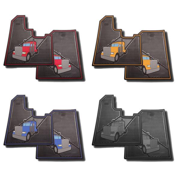 Peterbilt 379 Rubber Floor Mats All Colors