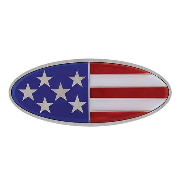 Peterbilt Chrome Flag Style Emblem - USA