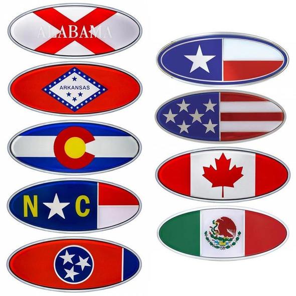 Peterbilt Chrome Flag Style Emblem