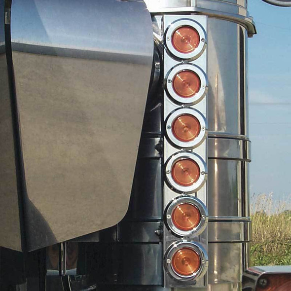 """Kenworth 13"""" Donaldson And Vortox Front Air Cleaner Light Bar By Roadworks"""
