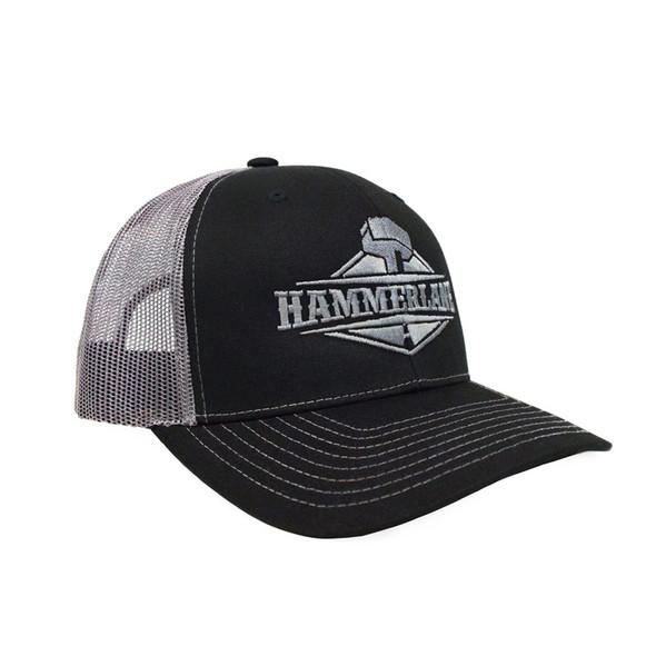 Snapback Charcoal Silver Hammerlane Trucker Hat Angle
