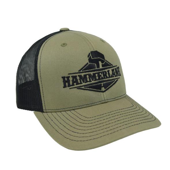Snapback Army Green Hammer Lane Trucker Hat Angle