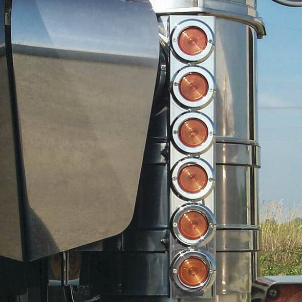 "Kenworth 15"" Premium And Regular Donaldson Front Air Cleaner Light Bar By Roadworks"