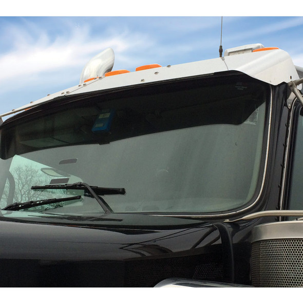 Kenworth W900 T300 T400 T600 T800 Replacement Curved Visor Side View