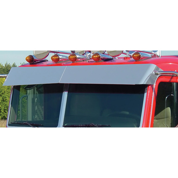 Peterbilt 388 389 Pride & Class Flat Top Blind Mount Bow-Tie Visor By Roadworks