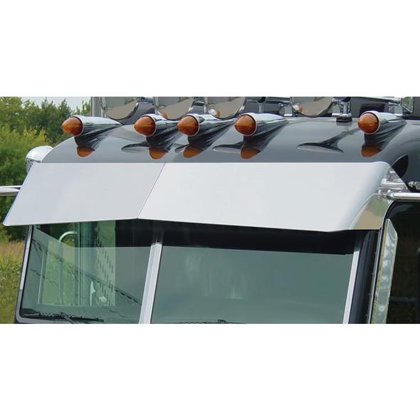 Peterbilt 388 389 Pride & Class Multi Fit Blind Mount Monster Bow-Tie Visor By Roadworks