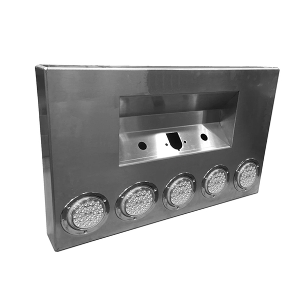 Rear Bumper Center Panel - Light Holes w/ Trailer and 2 7-Way Holes